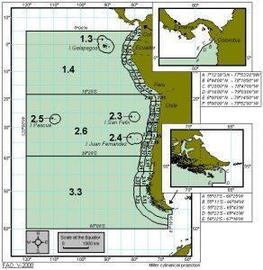 Mapa zona FAO 87. Zonas FAO y etiquetado del pescado.