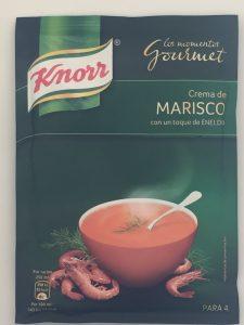 Crema de marisco marca Knorr.