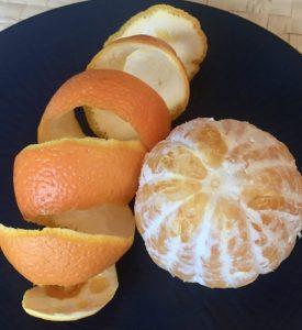 Naranja pelada.