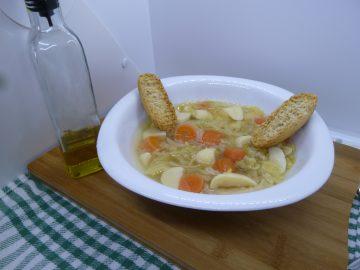Sopa de verduras.